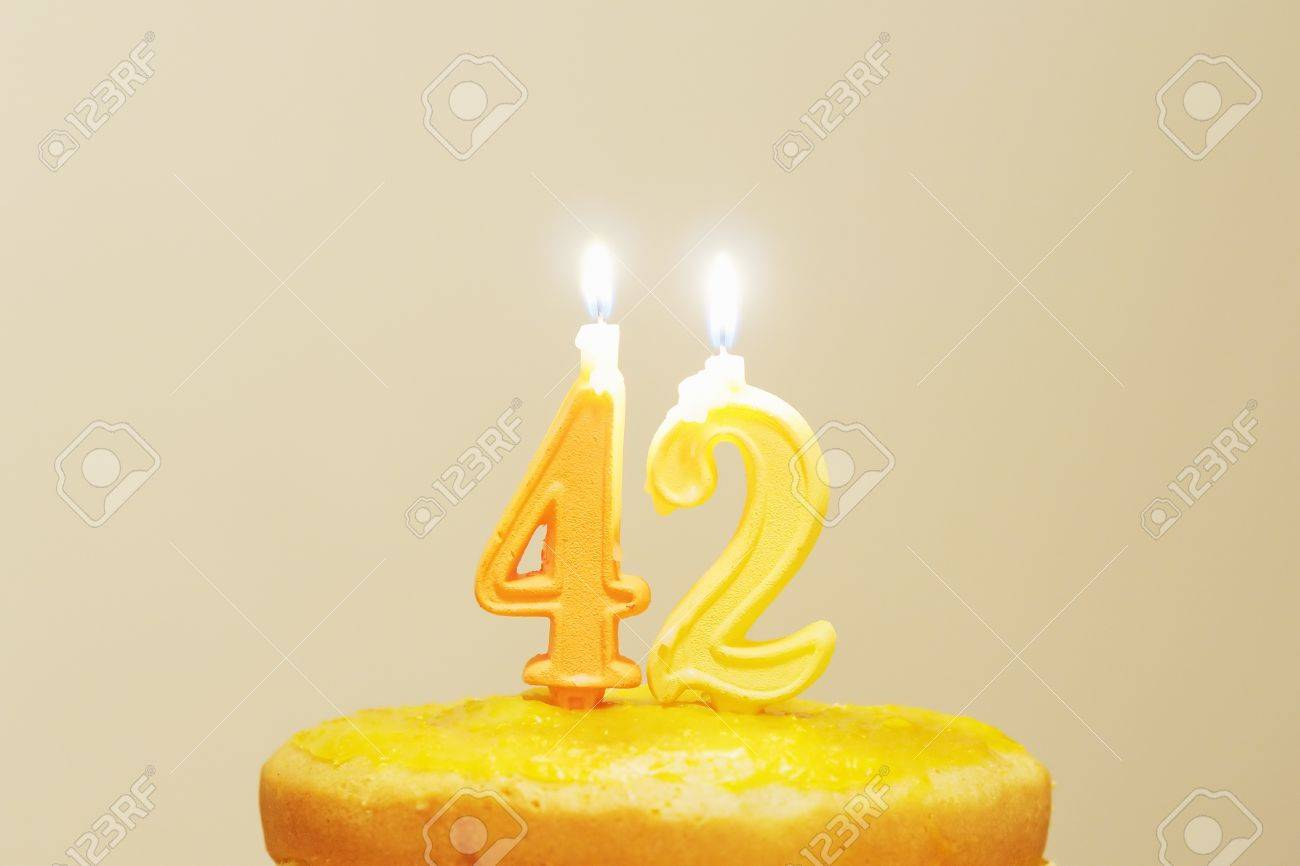 Lighted birthday candles Stock Photo - 12978707