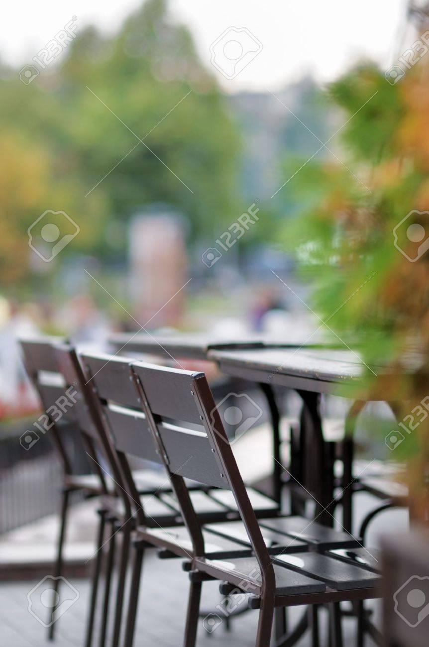 Autumn outdoor cafe - 14988491