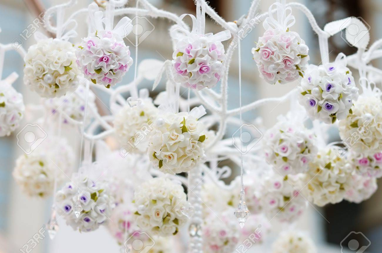Wedding Flowers Decoration Beautiful Wedding Flowers Decoration Indoor Stock Photo Picture