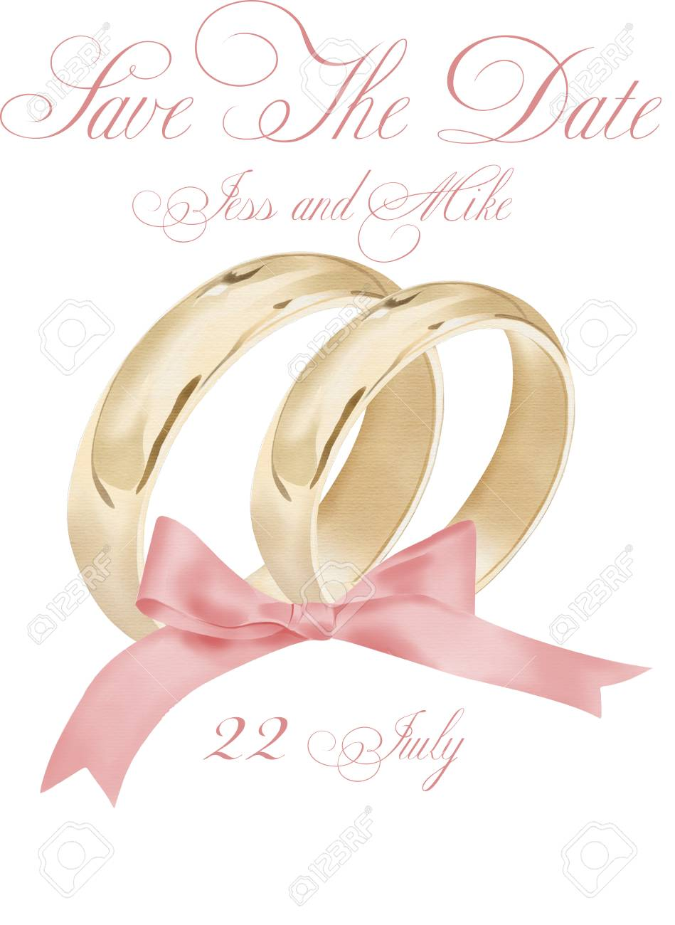 watercolor wedding rings illustration stock photo picture and