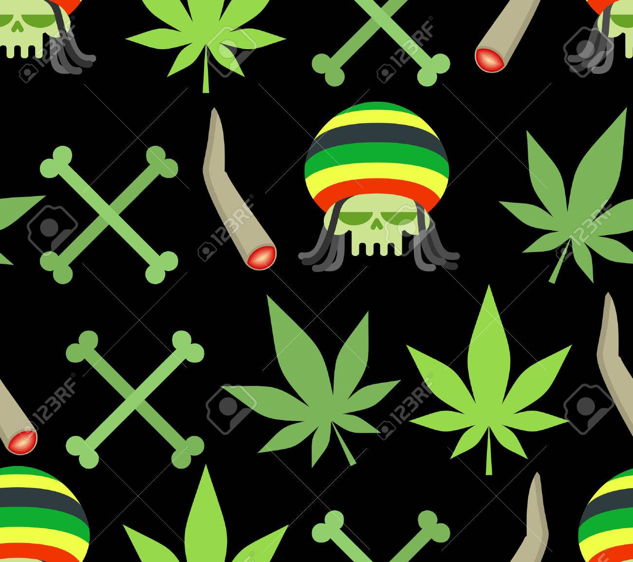 44333496-jamaica-drugs-seamless-pattern-rasta-skull-and-leaf-cannabis-spliff-and-bones-smoking-pushing-drugs-Stock-Vector.jpg