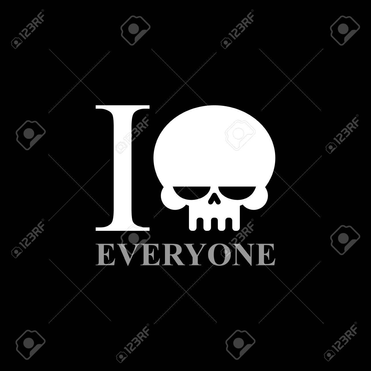 I hate everyone a symbol of hatred from skull wicked emblem a symbol of hatred from skull wicked emblem to t buycottarizona Images