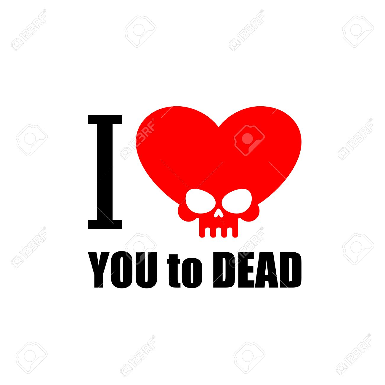 I love you to death symbol of the heart of skull vector symbol of the heart of skull vector illustration for buycottarizona Images