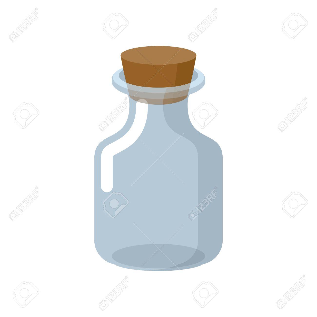 Chemische Glasflasche Mit Einem Hölzernen Stopper. Zaubertrank ...