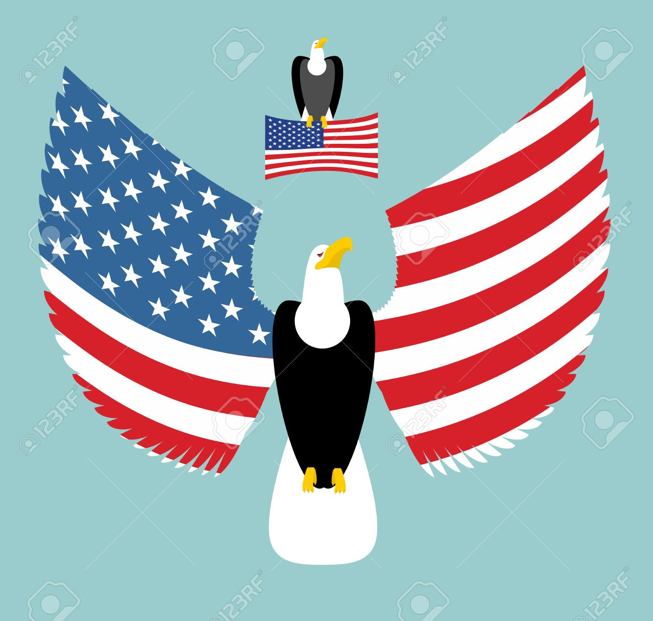 American eagle most powerful bird and us flag emblem for america most powerful bird and us flag emblem for america winged predator sciox Choice Image