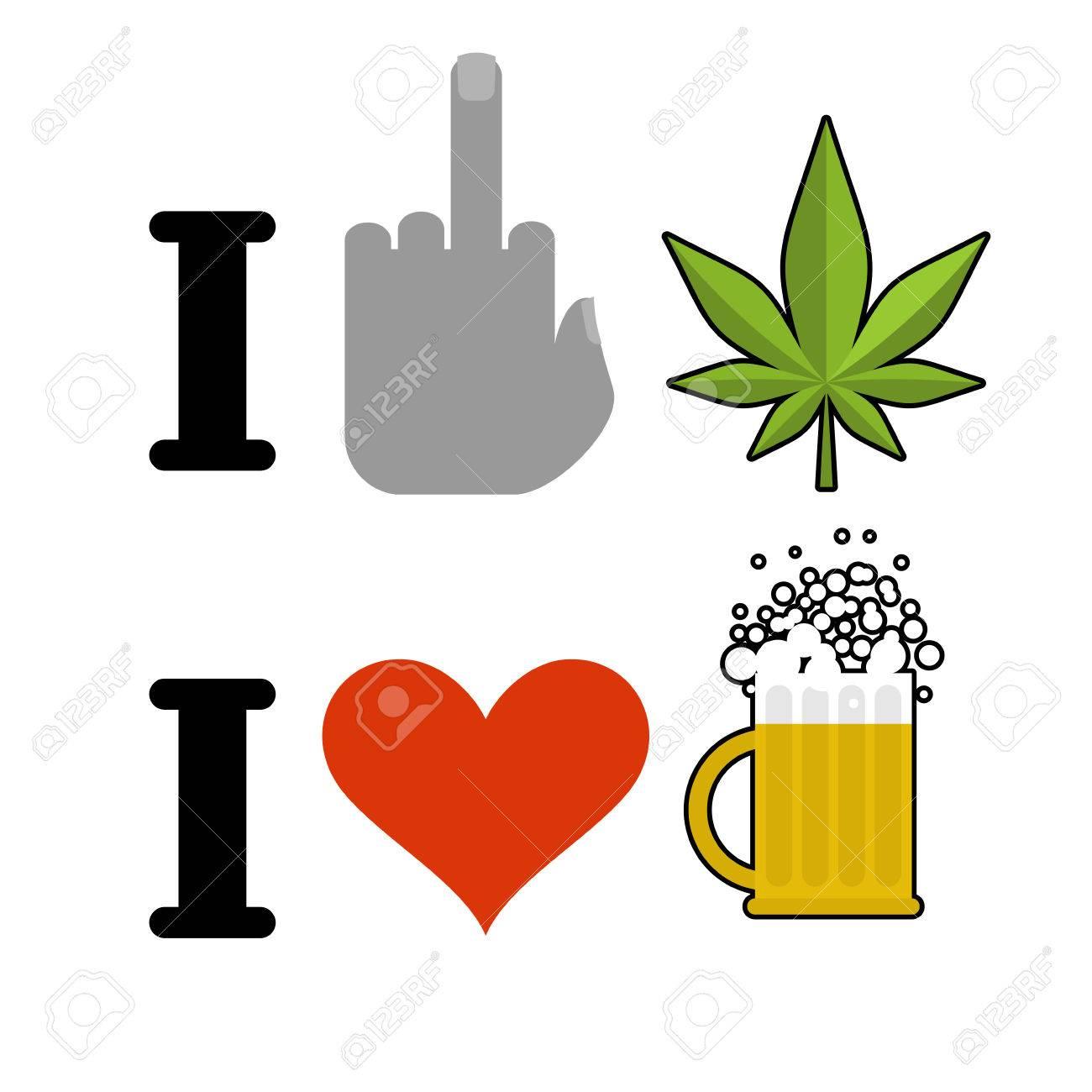 I hate drugs i like alcohol fuck symbol of hatred and marijuana fuck symbol of hatred and marijuana leaf biocorpaavc