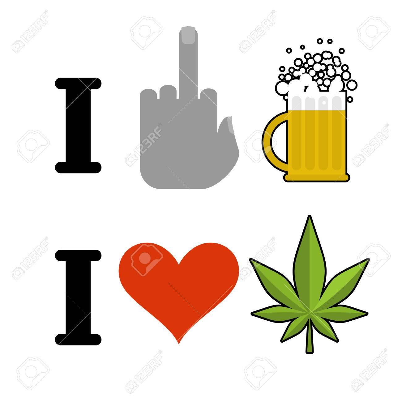 I hate alcohol i like drugs fuck symbol of hatred and mug of fuck symbol of hatred and mug of beer biocorpaavc Choice Image