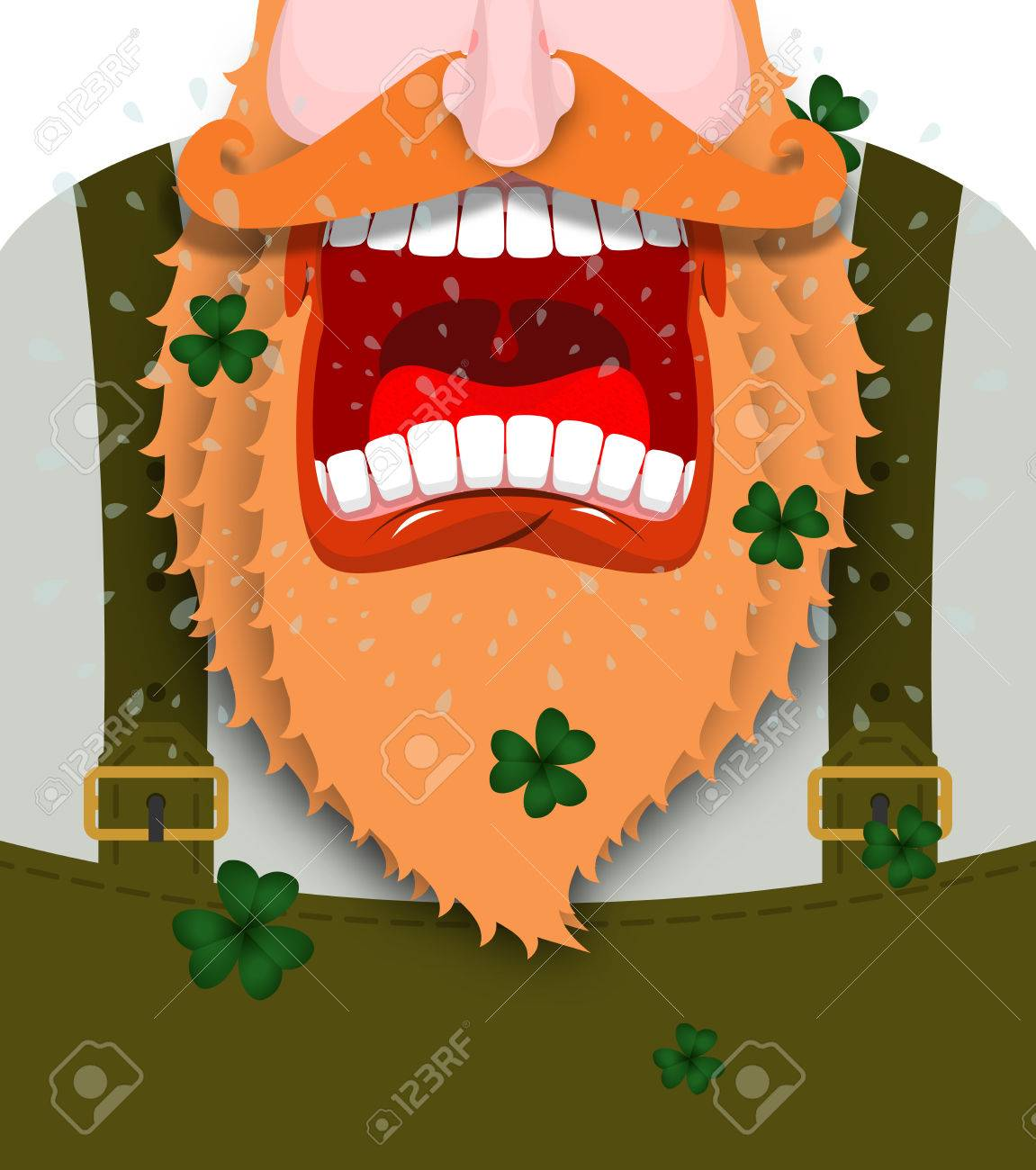 Leprechaun Screams. Scary Gnome Red Beard Shouts. Angry Dwarf ...