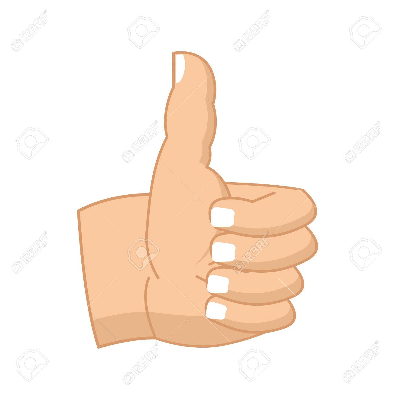 Thumbs up hand sign isolated like symbol all right success thumbs up hand sign isolated like symbol all right success gesture hands stock vector buycottarizona Choice Image