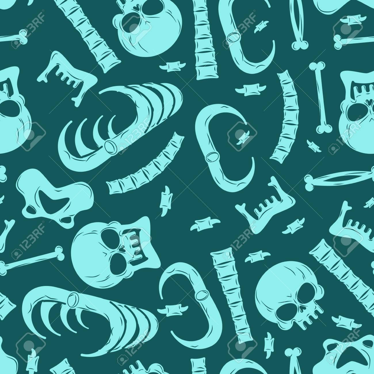 Esqueleto De Fondo. Los Huesos Sin Patrón. Ornamento Del Cráneo. La ...