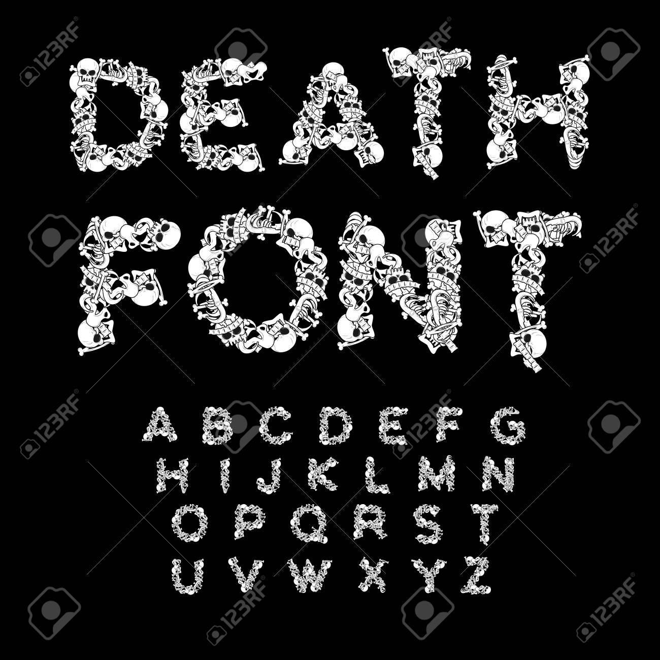 La Fuente De La Muerte. Huesos ABC. Alfabeto Esqueleto. Cartas ...