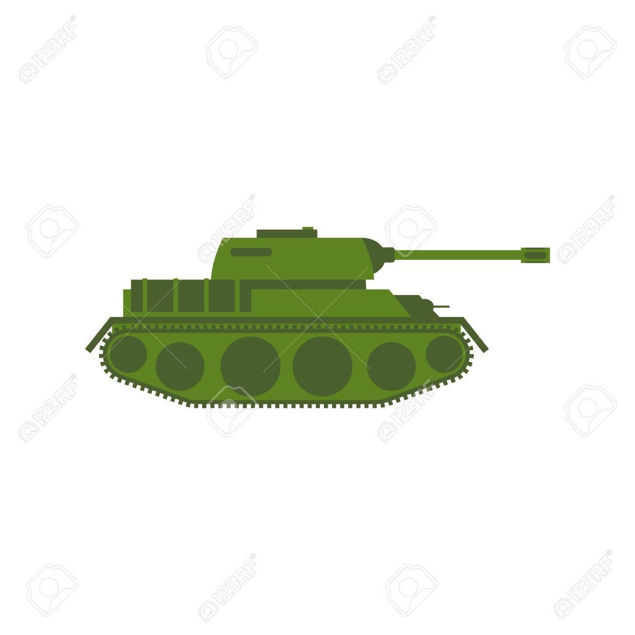 Tanque Militar Aislado. Máquina De Guerra Del Ejército Sobre Fondo ...