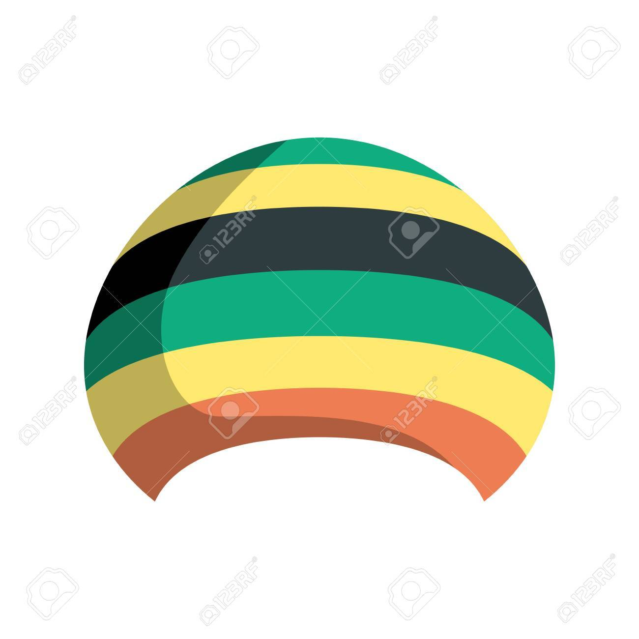 Rastafarian hat isolated. Jamaica cap on white background Stock Vector -  68988311 dee90dc04798