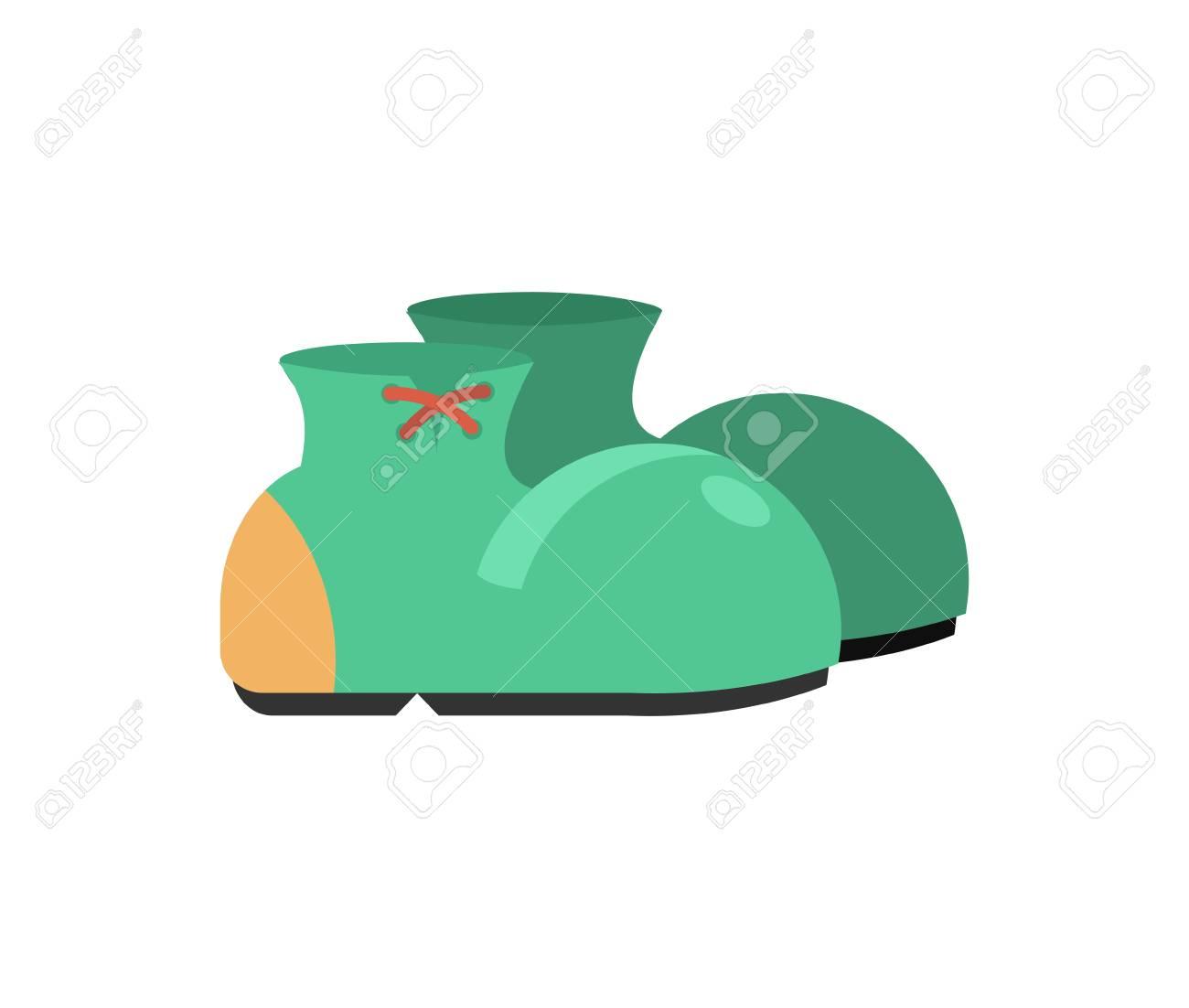 Stiefel Fur Clown Isoliert Lustige Schuhe Auf Weissen Hintergrund