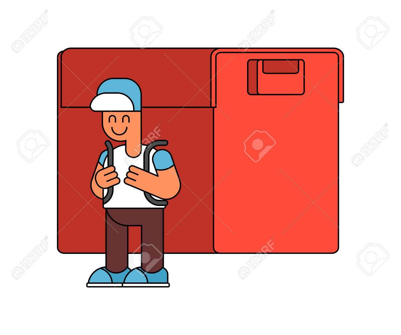 e7d41d65f9 Banque d'images - Retour à l'école. Garçon et grand sac à main.  Illustration pour le 1er septembre. Écolier va à l'école avec des sacs à dos