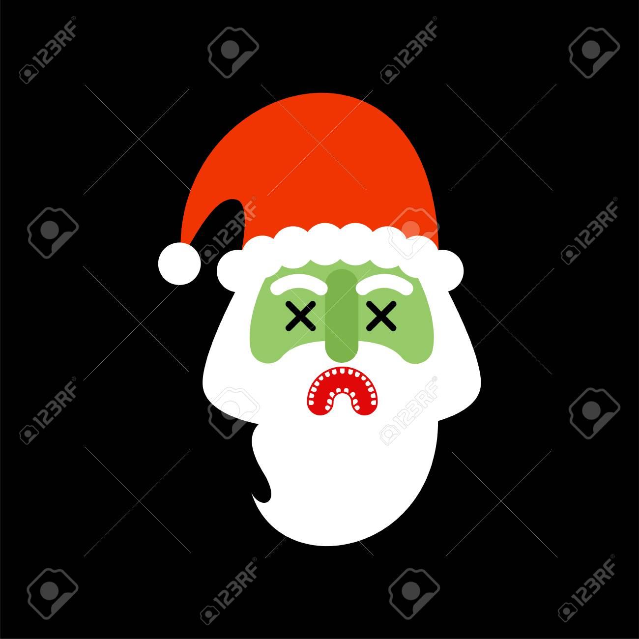 Christmas Zombie Santa.Santa Claus Zombie Christmas Grandfather Horror Halloween New