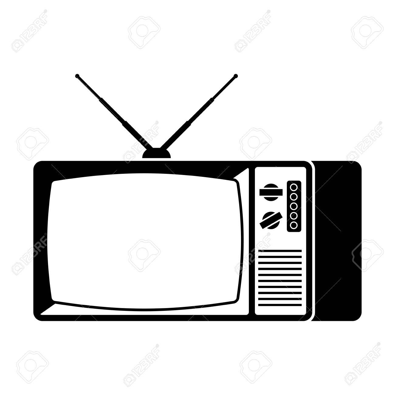 Old TV icon  Television retro sign  Vector illustration