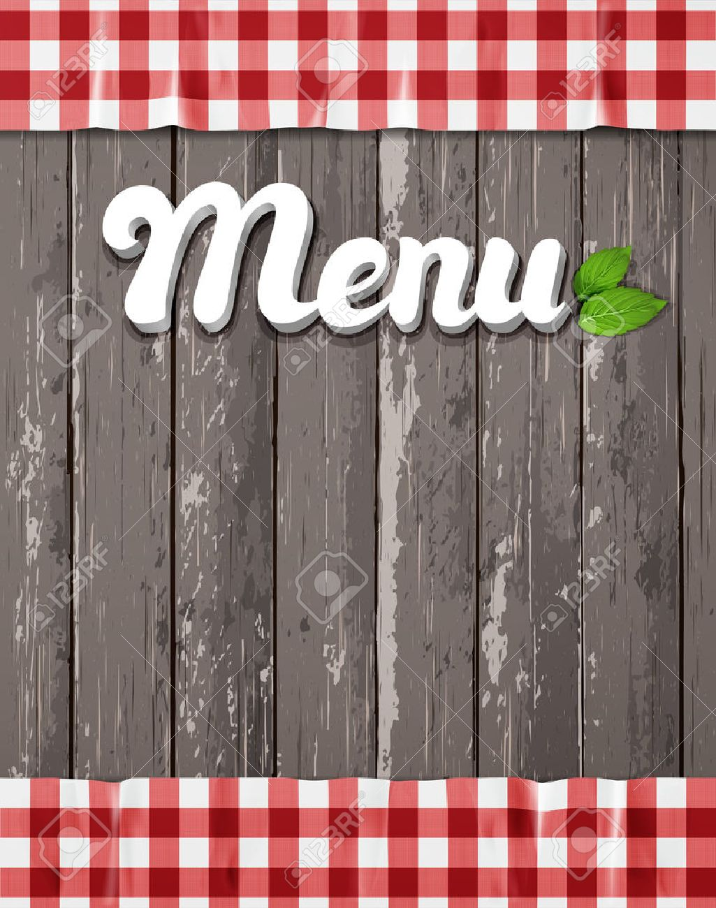 Menu For Restaurant, Cafe. The Word Menu On A Wooden Background ...