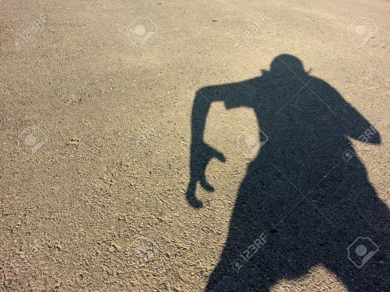 shadow human posing like monster stock photo picture and royalty