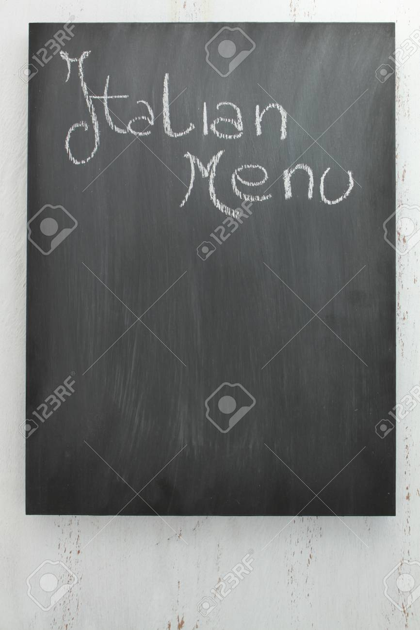 chalkboard italian menu stock photo, picture and royalty free image