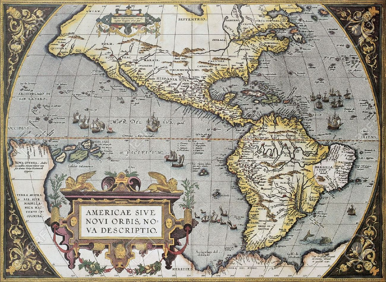 America old map from theatrum orbis terrarum the first atlas america old map from theatrum orbis terrarum the first atlas in the world gumiabroncs Image collections