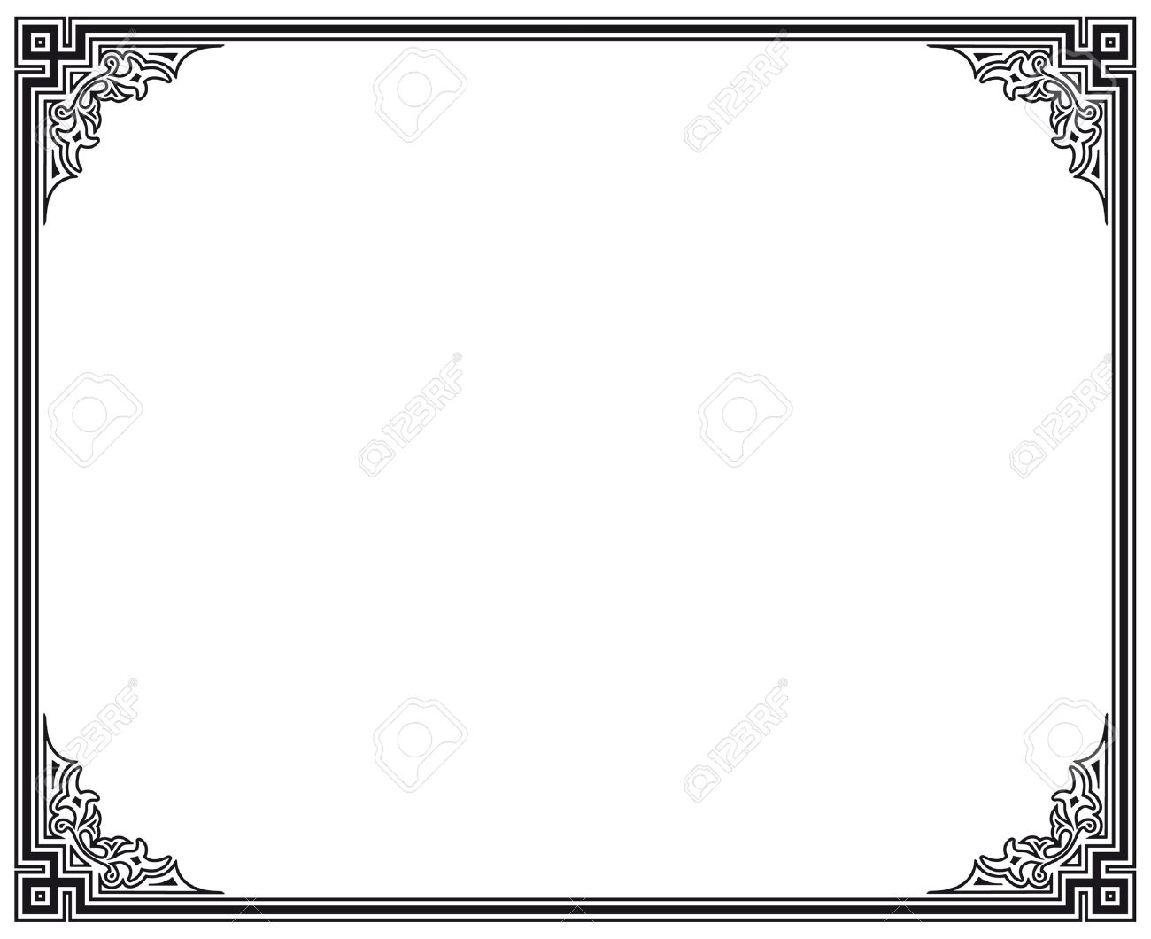 Black And White Vector Frame Royalty Free Cliparts, Vectors, And ...