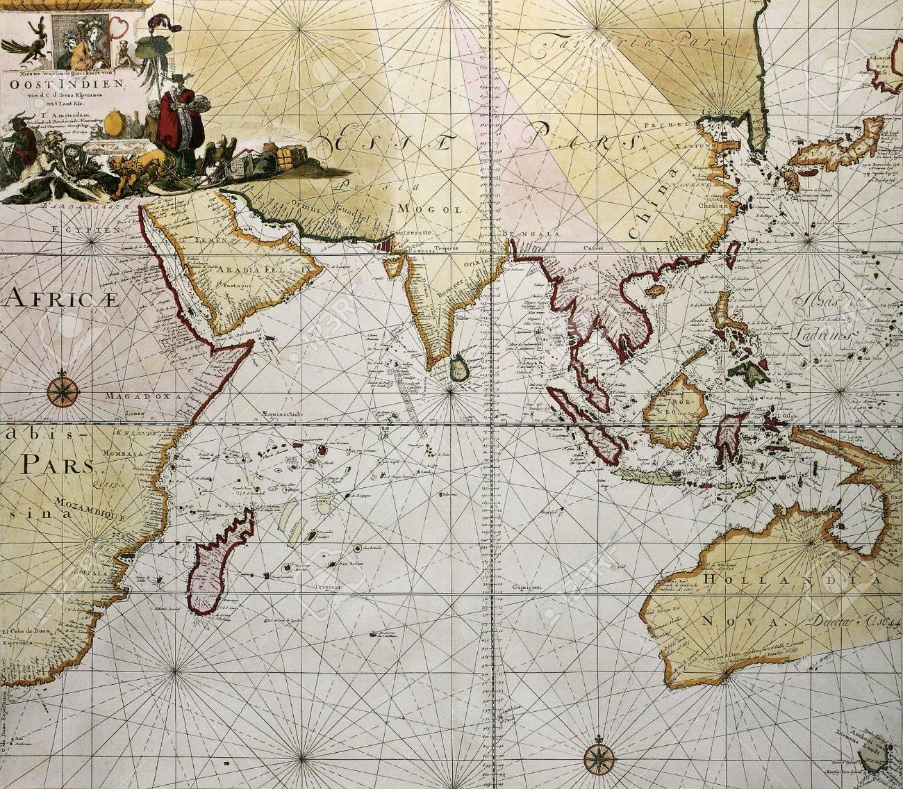 Ocean Indien Ancienne Carte Asie Du Sud Afrique De L Est Et Ouest De L Australie Cree Par Hendrick Doncker Publie A Amsterdam 1705 Banque D Images Et Photos Libres De Droits Image 14986539