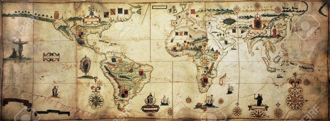 mapa maritimo de portugal Antique Mundo Planisferio Mapa Portulano De Españoles Y  mapa maritimo de portugal