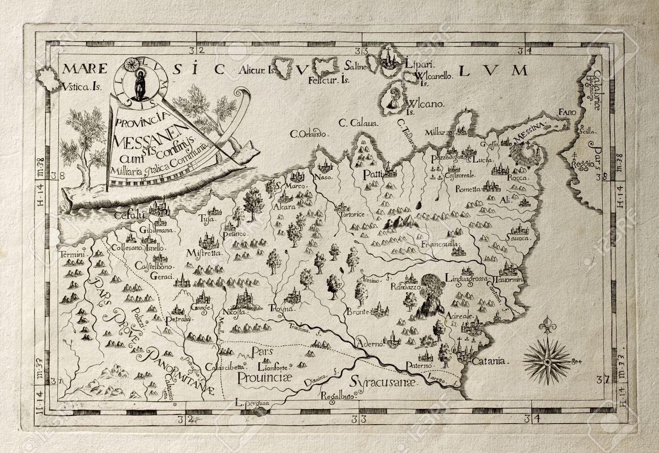 Cartina Sicilia Antica.Mappa Di Palermo Antica