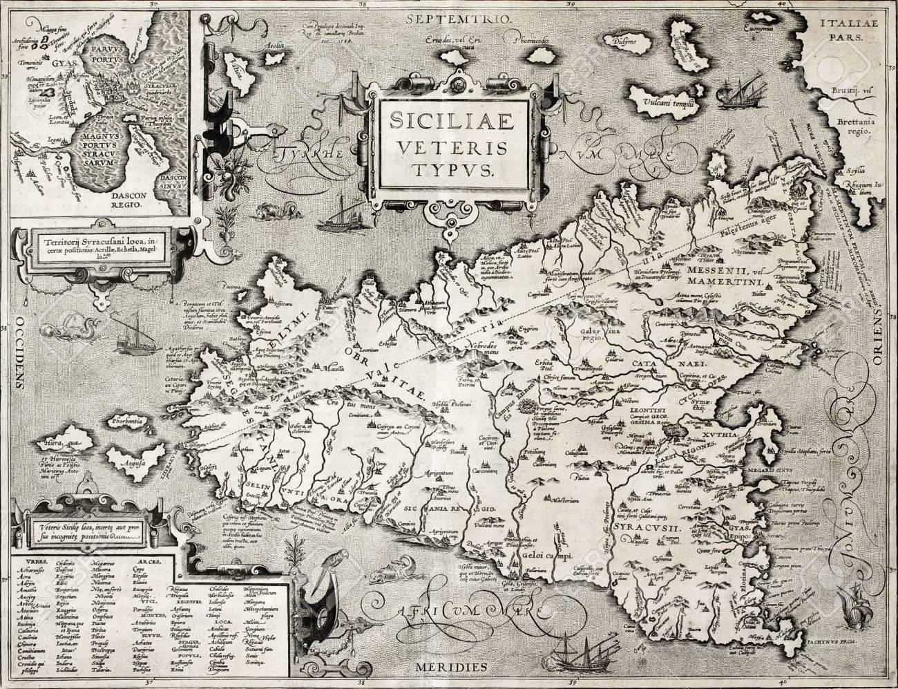 Cartina Sicilia Antica.Cartina Palermo Antica