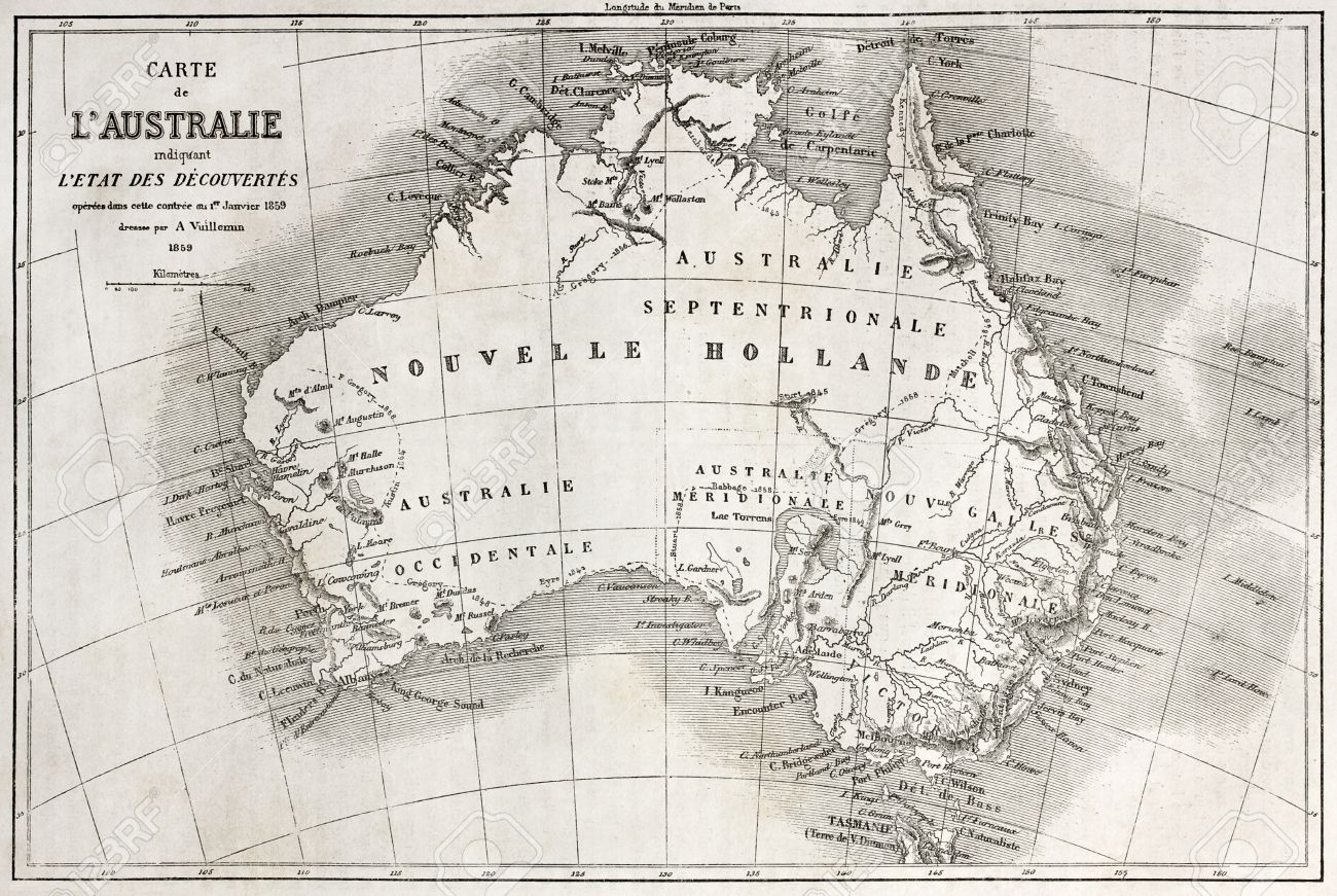australia map 1860