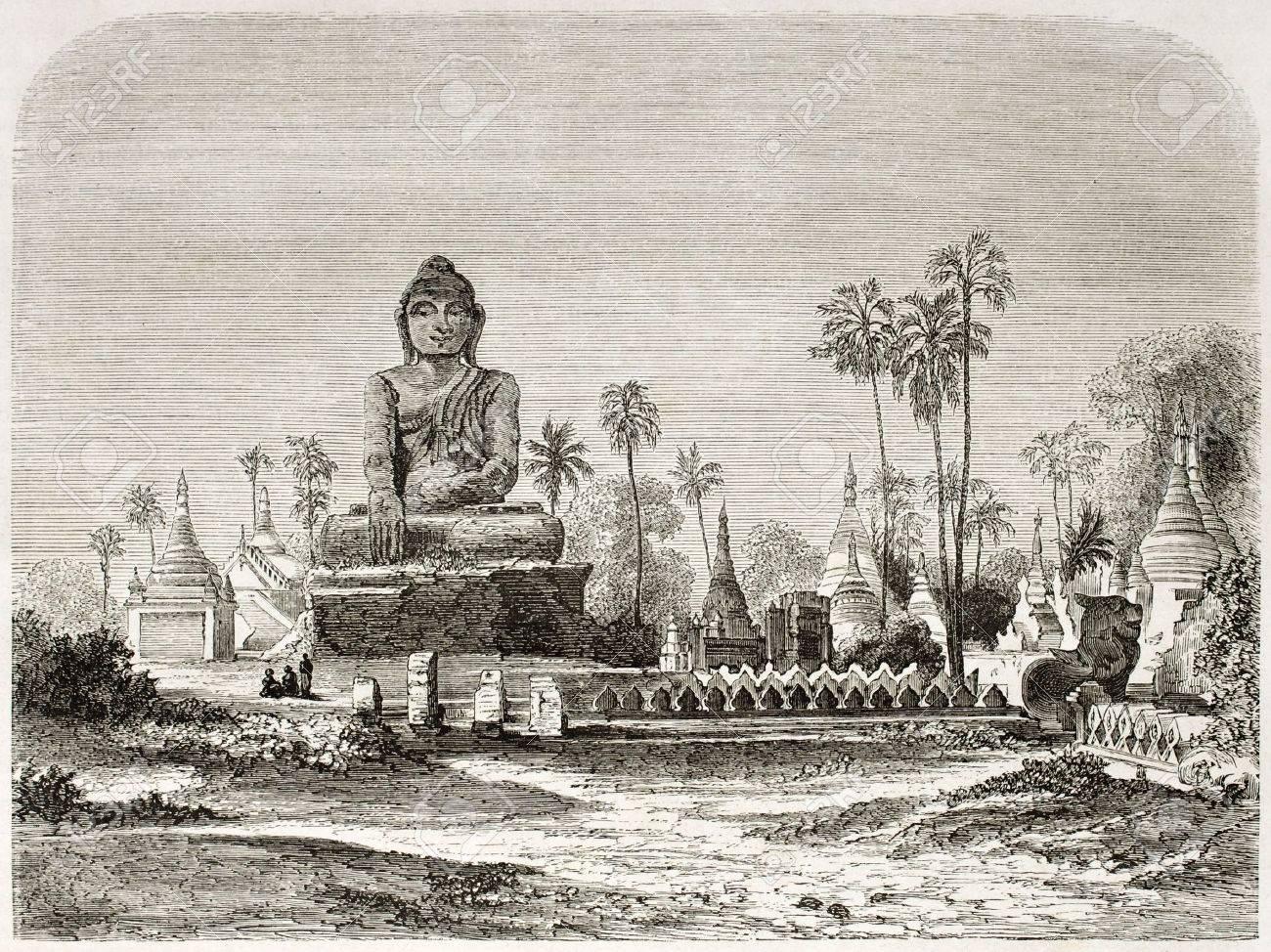 アマラプラ、ビルマの仏像。Yule...