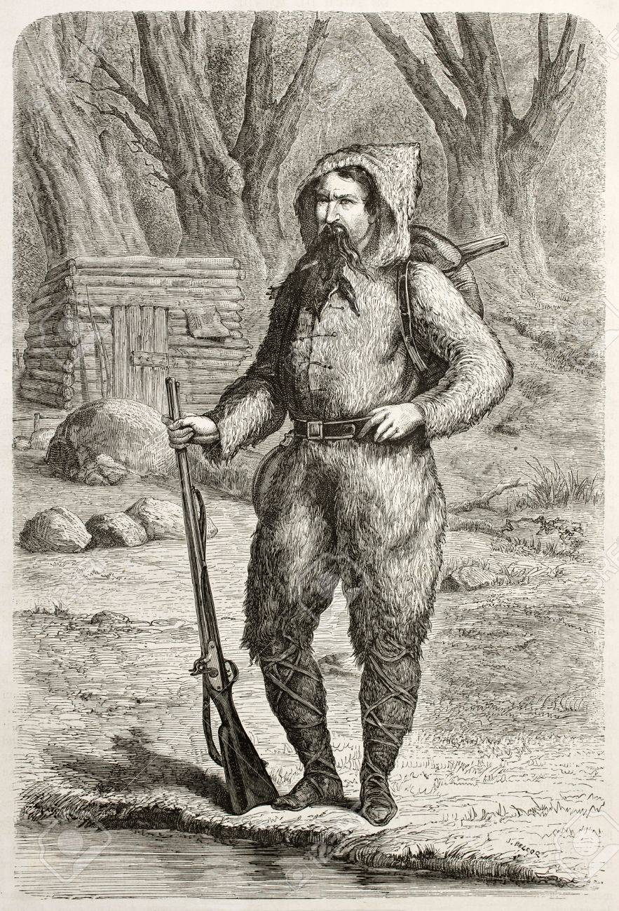 Baron De Wogan, French explorer in California, old engraved portrait. Created by Pelcoq after photo of unknown author, published on Le Tour du Monde, Paris, 1860 Stock Photo - 15080453