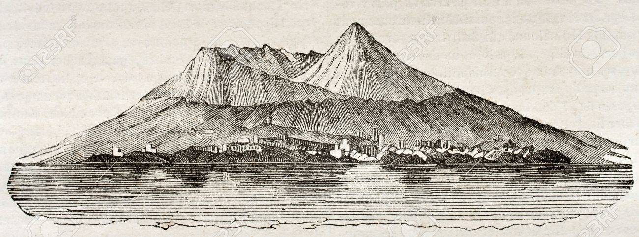 Mount Vesuvius After 79 AD Eruption By Unidentified Author Published On Magasin Pittoresque