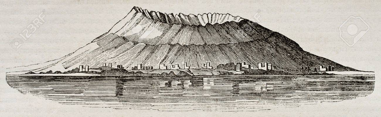 Mount Vesuvius Before 79 AD Eruption By Unidentified Author Published On Magasin Pittoresque