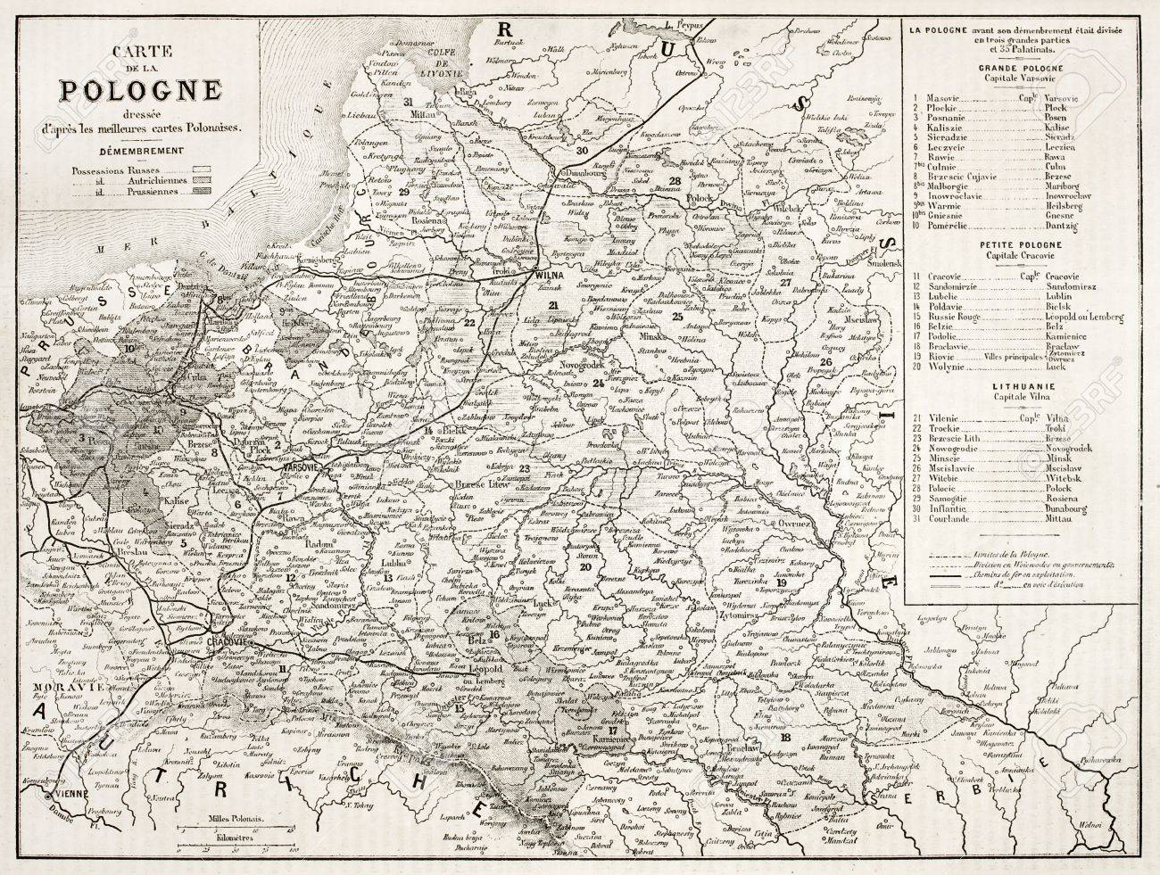 Poland Old Map By Unidentified Author Published On L Illustration
