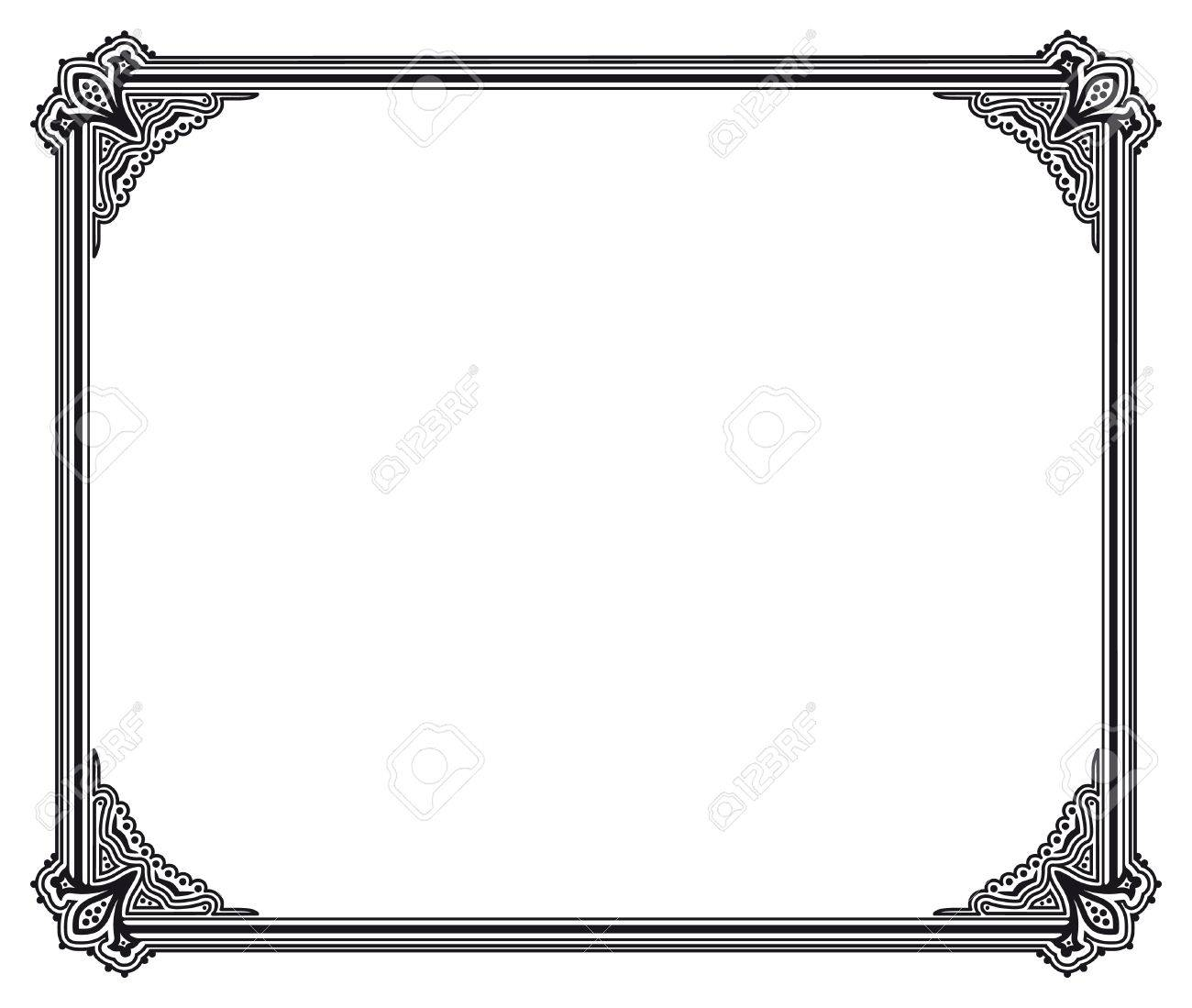 black and white vector frame royalty free cliparts vectors and rh 123rf com free vector frames for illustrator free vector frame download