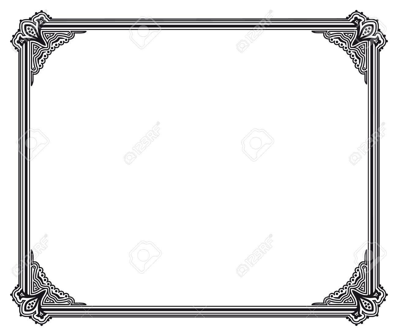 Schwarz-Weiß-Vektor-Rahmen Lizenzfrei Nutzbare Vektorgrafiken, Clip ...