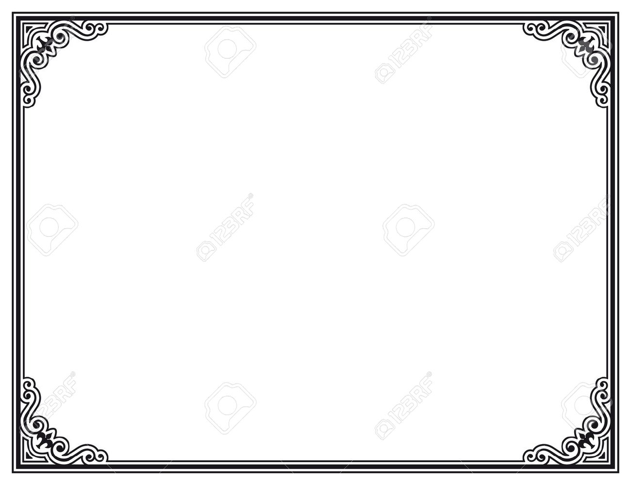 Black And White Decorative Frame Royalty Free Cliparts, Vectors, And ...