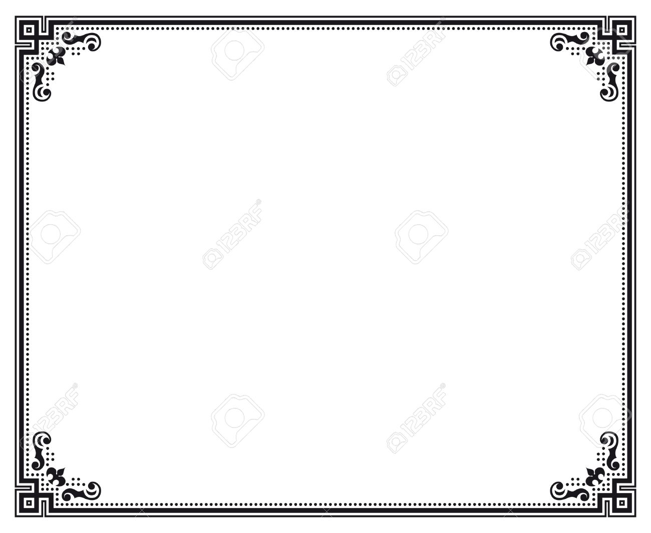 Black And White Decorative Vector Frame Royalty Free Cliparts ...