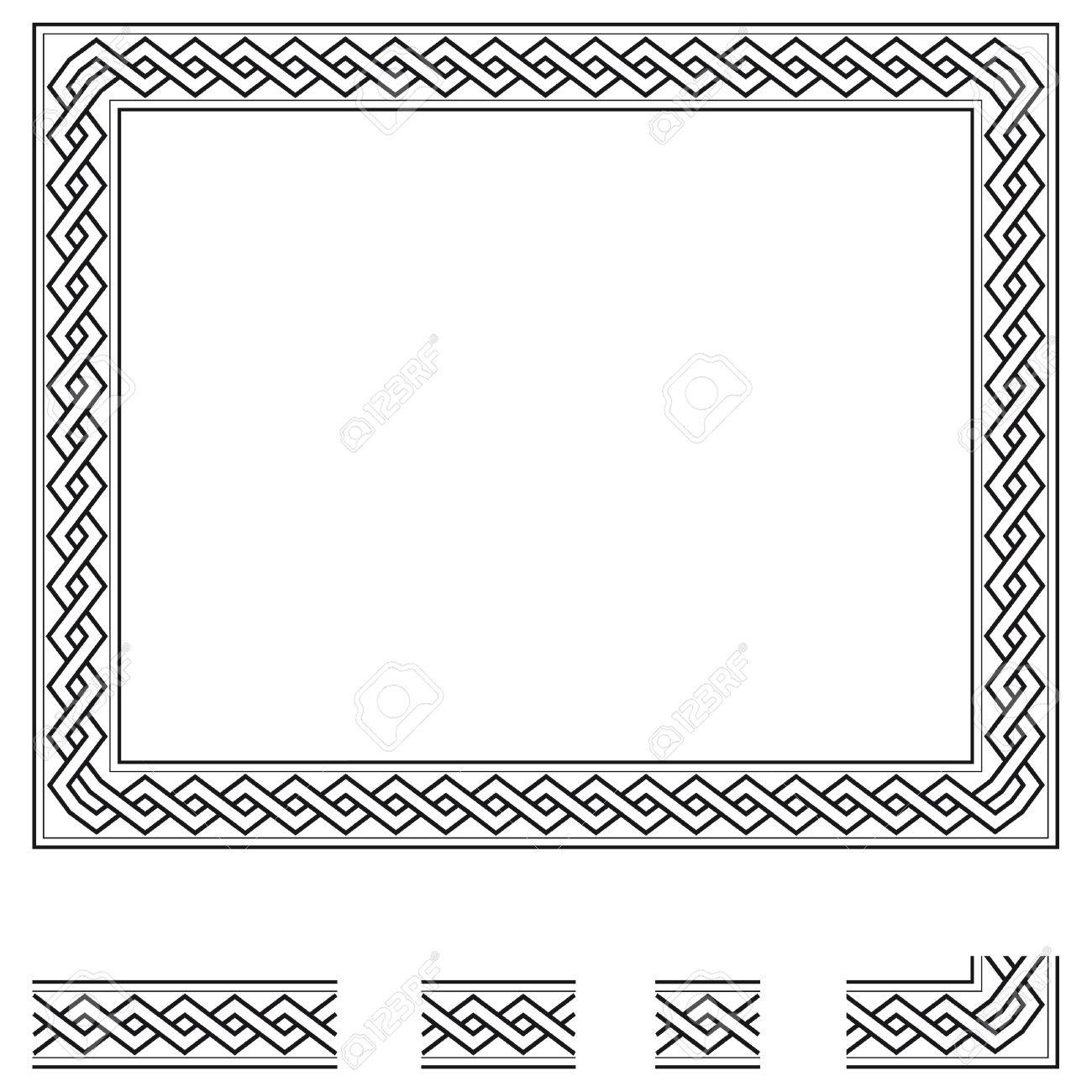 Vector frame and modular elements to create others at any size vector frame and modular elements to create others at any size stock photo 28418966 jeuxipadfo Choice Image