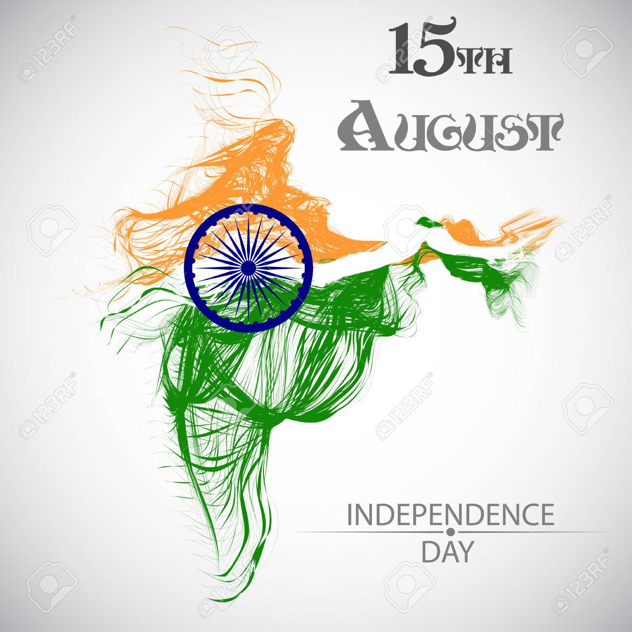 Indian Independence Day Vector Background With Stylish Text 15th Royalty Free Cliparts Vectors And Stock Illustration Image 61564675