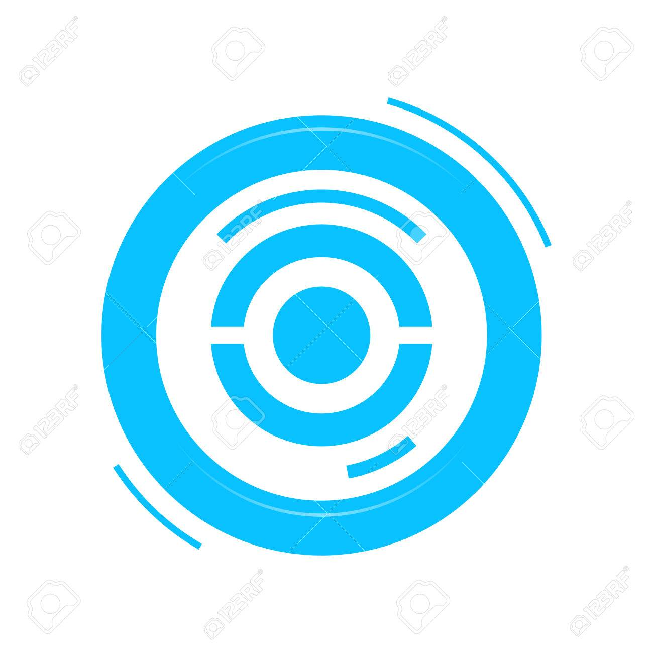 Vector blue marker for map  Isolated on white pokestop  Blue
