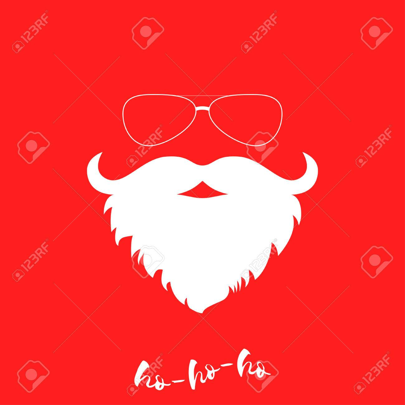 Santa clauss luxuriant white beard and sunglasses template santa clauss luxuriant white beard and sunglasses template for christmas greeting card christmas background maxwellsz