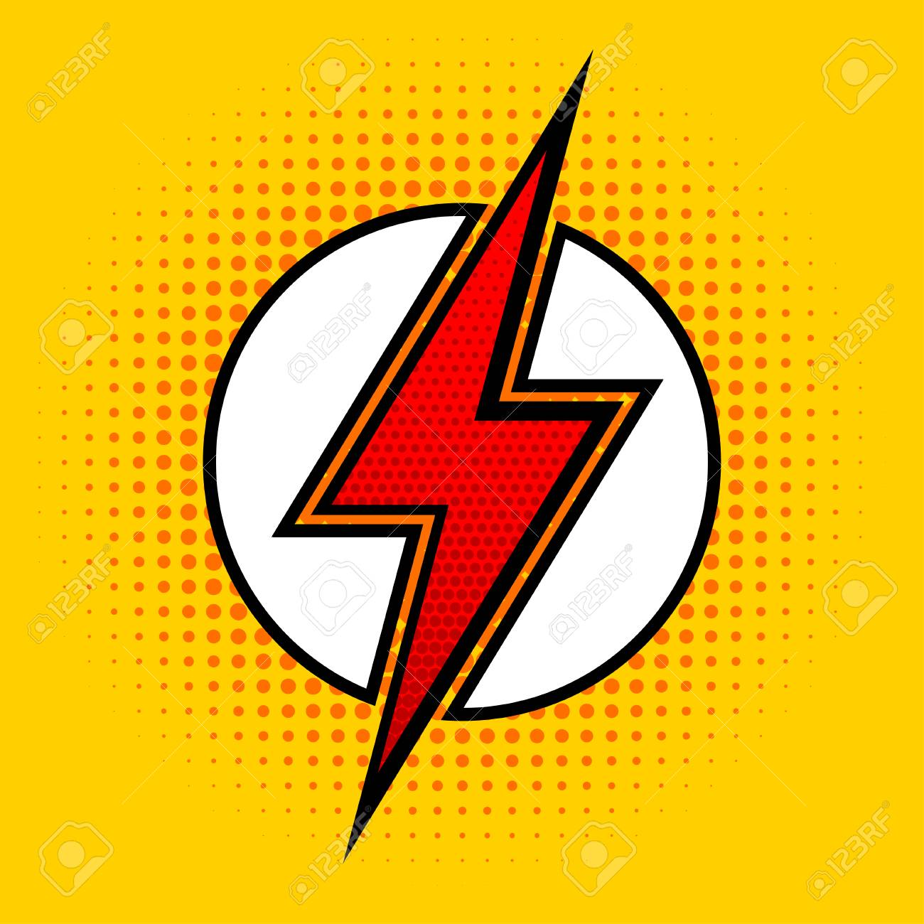 Lightning in pop art style sign of superhero vector illustration lightning in pop art style sign of superhero vector illustration stock vector buycottarizona Image collections
