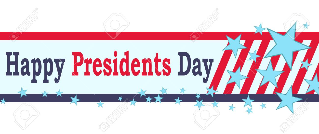 Vector Happy Presidents Day Banner Isolated On White Background Royalty Free Cliparts Vectors And Stock Illustration Image 93554886