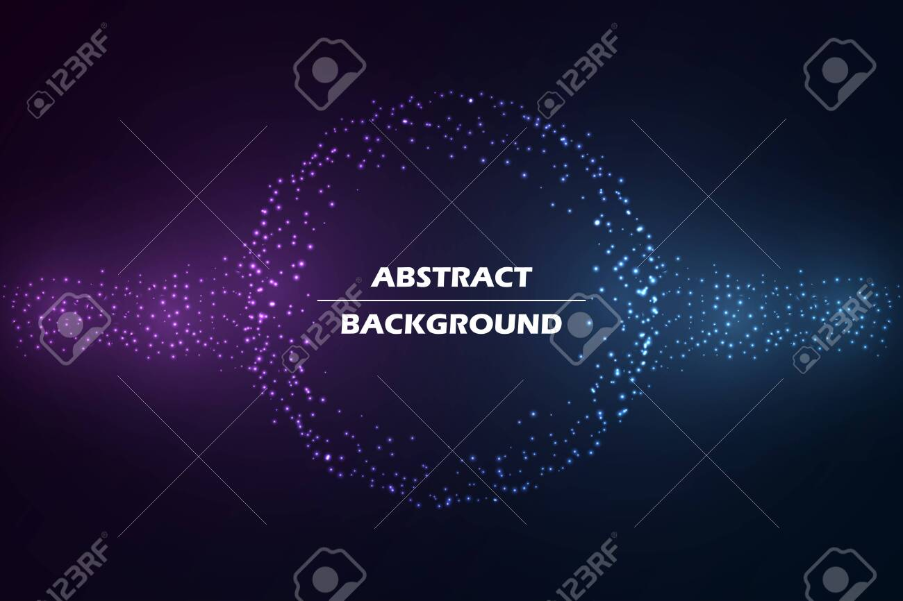 Abstract circular geometric background. Abstract circular star lights. Template for brochure cover, banner or web design. Vector. - 150112509