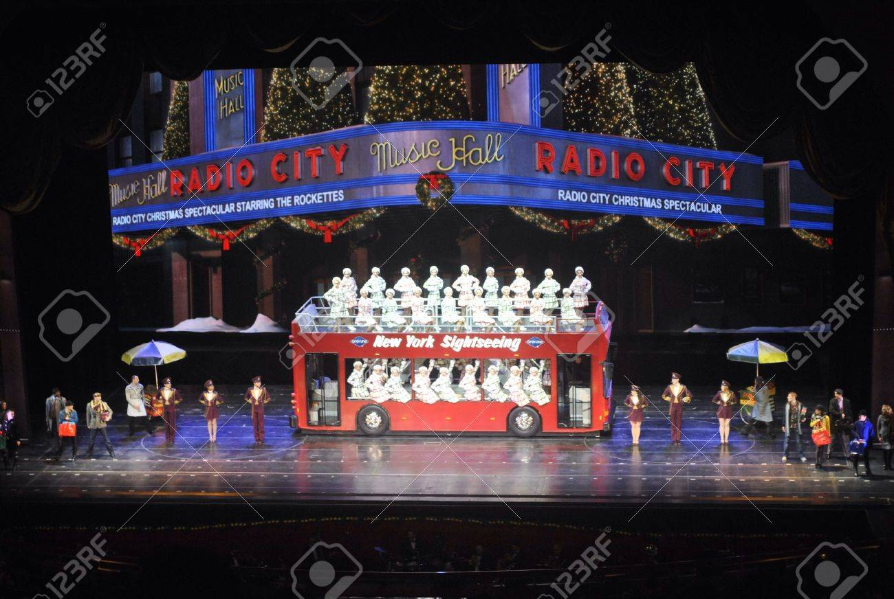 Rockettes Christmas Show.The Rockettes Perform At The Radio City Music Hall Christmas
