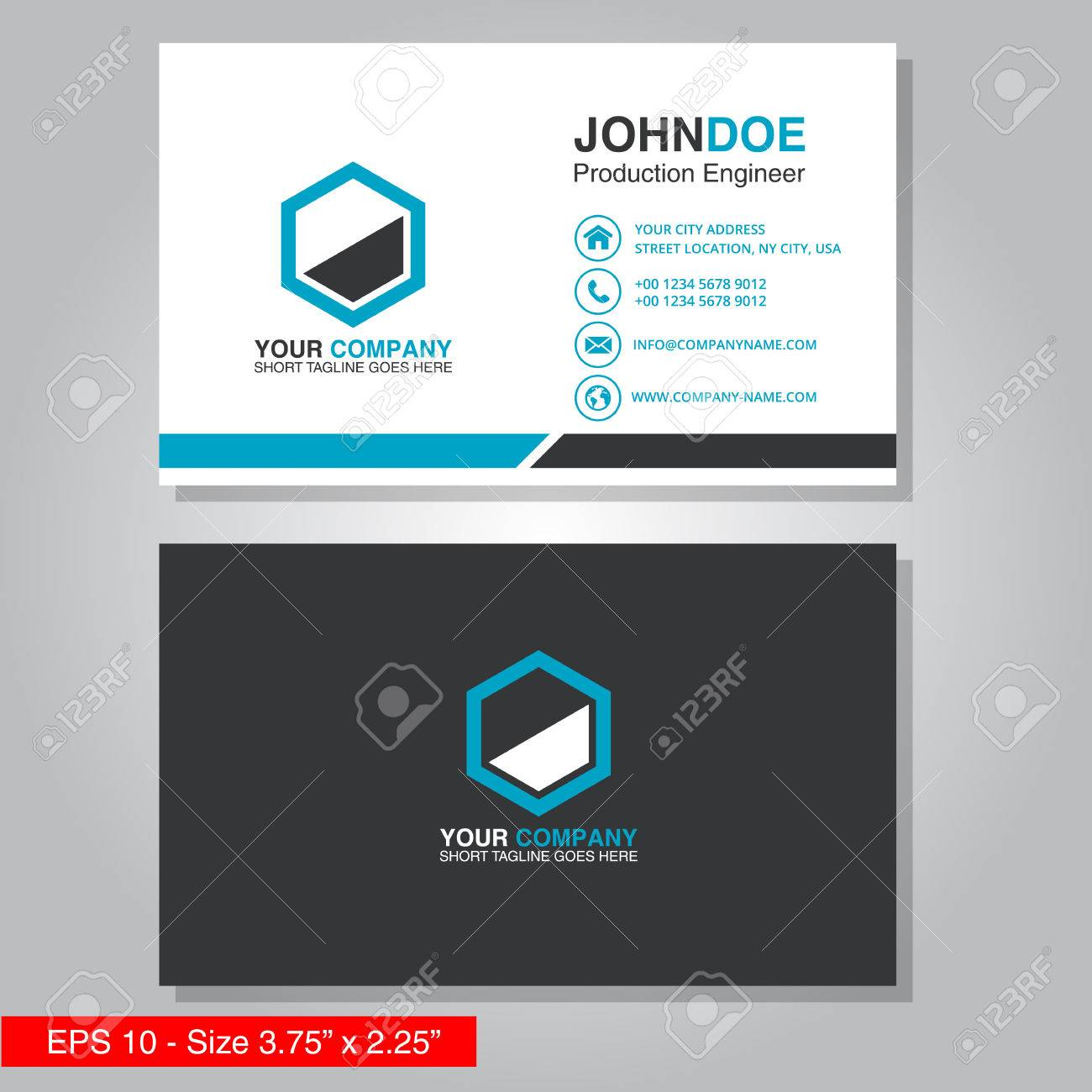 carte de visite pro Modern Business Card Vector Template Royalty Free Cliparts