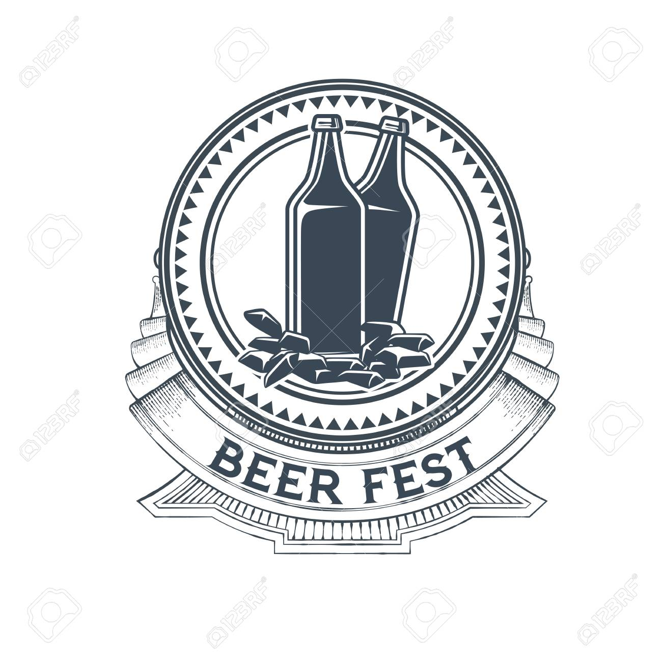 Labeltemplate | Craft Beer Vector Logo Symbol Or Label Template Royalty Free